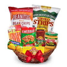 fiesta snacks gift basket same day delivery