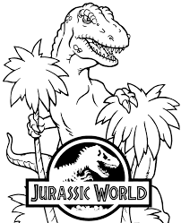 Free printable jurassic world coloring pages. T Rex From Jurassic World On Fre Coloring Page