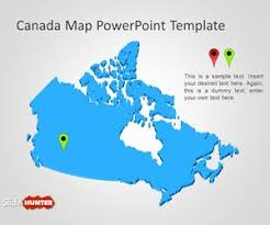 powerpoint map templates free canada map powerpoint template