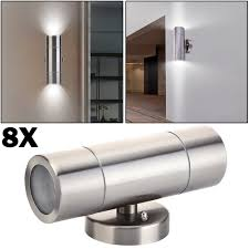 Stainless Steel Up Down Wall Light 8x Stainless Steel Up Down Wall Light Gu10 Ip65 Double