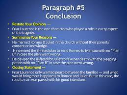 romeo juliet persuasive essay model paragraph
