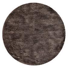 oslo round rug dark grey