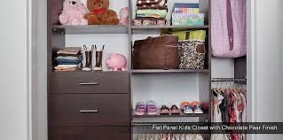 small custom closets for women. Antique White Custom Kids Closet Flat Panel With Chocolate Pear Finish Small Closets For Women S