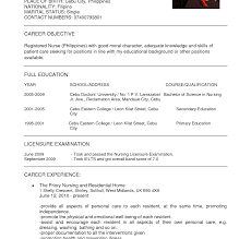 School Nurse Resume Objective Objective For Resume Nursing Studenttant With No Experience 90