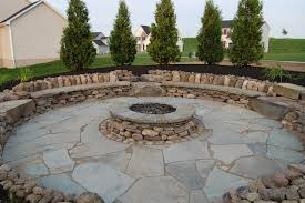 outdoor stone fire pit. Natural Stone Outdoor Fire Pit Traditional-patio