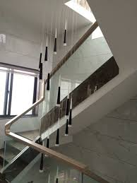 modern stairwell lighting. 9-24 Pcs Cone LED Strip Pendant Lights Modern Stairwell Led Hanging Lamp Hotel Acryl Lighting E