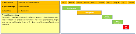 Executive Project Status Update Template