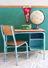 school desk and chair makeover aqua school desk globe pennant