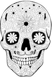 Sugar skulls celebrate dia de los muertos or the day of the dead. Free Printable Day Of The Dead Coloring Pages