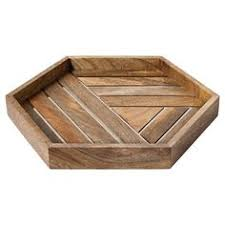 Wooden Trays To Decorate Metal tray large grey by Ferm Living New Noteworthy 60