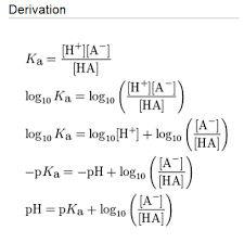 Henderson Hasselbalch Derivation Of Henderson Hasselbalch Equation Biochembayern