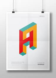 Graphic Letter Design Online 3d Alphabet Logo Letters On Behance 3d Alphabet