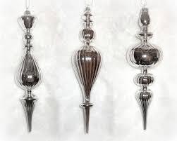 Christbaumschmuck Ornament Aus Glas Silber 3er S Haus