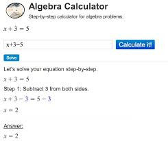 algebra calculator shows you the step by step solutions solves algebra problems and walks you through them