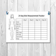 Body Measurements Tracking Sheet Printable Body