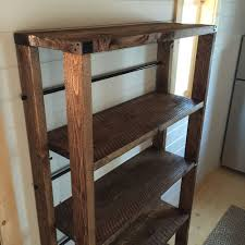 ana white reclaimed wood rolling shelf diy projects bookcase casters attach caster wheels base project also