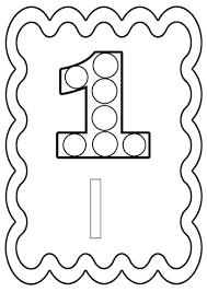 Chiffre 1 Colorier Ou Gommettes Imprimer En Fichier Pdf