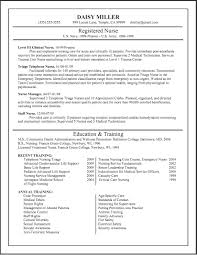 Free Rn Resume Template Sample Nursing Words Sle With For New