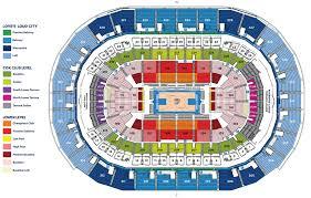 Oklahoma Stadium Seating Okc Thunder Arena Seating Capacity