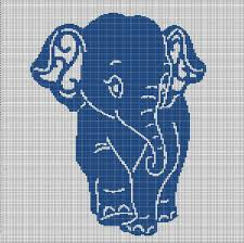 Blue Elephant Crochet Afghan Pattern Graph