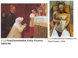 13 2 12 first communion pablo picasso 1895 96 2 13 seated woman holding a fan pablo picasso 1908