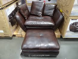 Leather Accent Chair With Ottoman Pulaski Knox Accent Chair