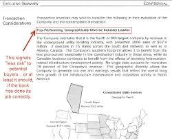 What S In A Confidential Information Memorandum Cim