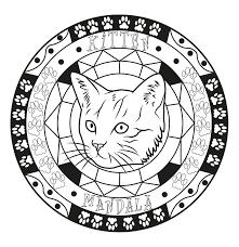Disegni Da Colorare Mandala Gatti Migliori Pagine Da Colorare