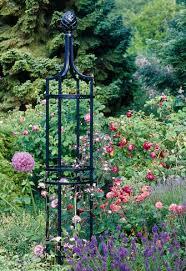metal garden obelisks galvanised
