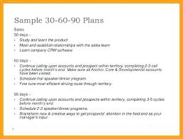 30 60 90 Excel Template Day Sales Plan Example Elegant Sample