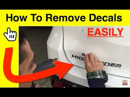 easily remove decals using a hair dryer
