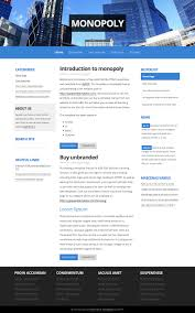 two column css web templates zypop page  monopoly