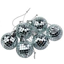 Mini Disco Ball Decorations 100 Silver Mini Disco Mirror Ball Christmas Tree Bauble Home Party 7