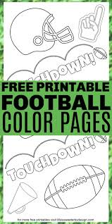 Now kids can have print outs of nfl football sports coloring of buffalo bills, chiefs. Football Coloring Pages Life Is Sweeter By Design