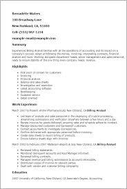 1 Billing Analyst Resume Templates Try Them Now Myperfectresume