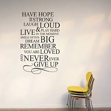 wall quote stickers in decors