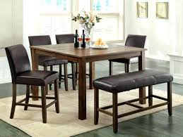 black dining table set with leather chairs 6 and brown wooden room cool dark somerset