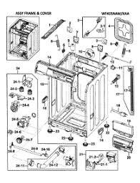 parts for samsung washing machine best washing machines frame y parts for samsung washer wf419aaw xaa 0000 from appliancepartspros com