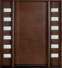 contemporary front door furniture. Mahogany Solid Wood Front Entry Door - Single With 2 Sidelites Contemporary Furniture
