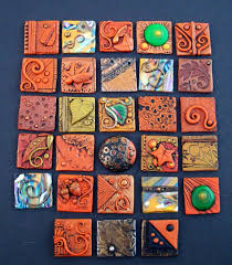 Good visual for grade mound builder lesson / clay project Fall polymer clay  Inchies by MandarinMoon