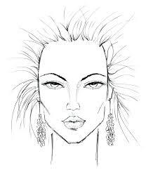 blank face chart beauty in makeup design template artist business card vector art young woman templates