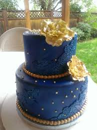 Blue Birthday Cake Designs Royal Blue And Gold Cake Blue Birthday Cakes Royal Blue
