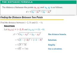 formula goal 1 to find the distance between two points in a plane goal 2 to find the coordinates of the midpoint of a segment given the endpoints
