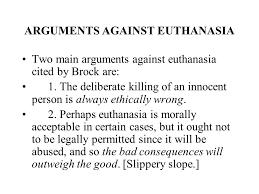 euthanasia against essay euthanasia against