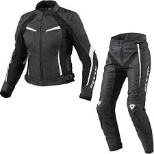rev it xena las motorcycle leather jacket trousers