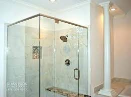 frameless shower door s shower door cost per square foot expressions custom french doors glass enclosures