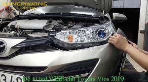 Toyota vios 2019 độ bi led GTR V3SE - YouTube