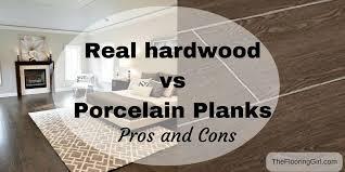 real hardwood vs porcelain tile wood look