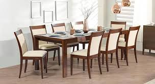 best dining table set amazing wesley persica leatherette 6 seater glass top within 10