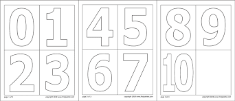 Numbers Free Printable Templates Coloring Pages